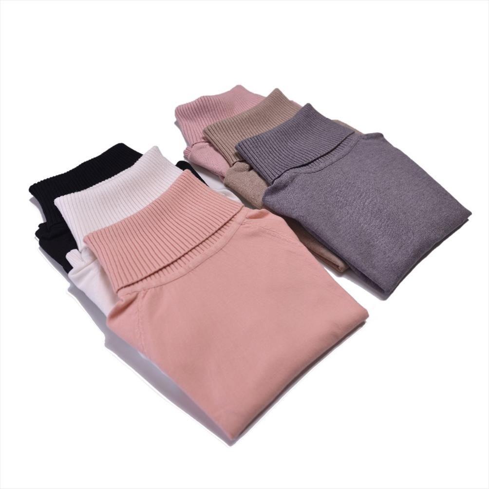 Marwin 2019 Outono Inverno Grosso Vire Collar alta elasticidade Casual Pullovers Feminino Grosso Turtleneck malha camisola das mulheres