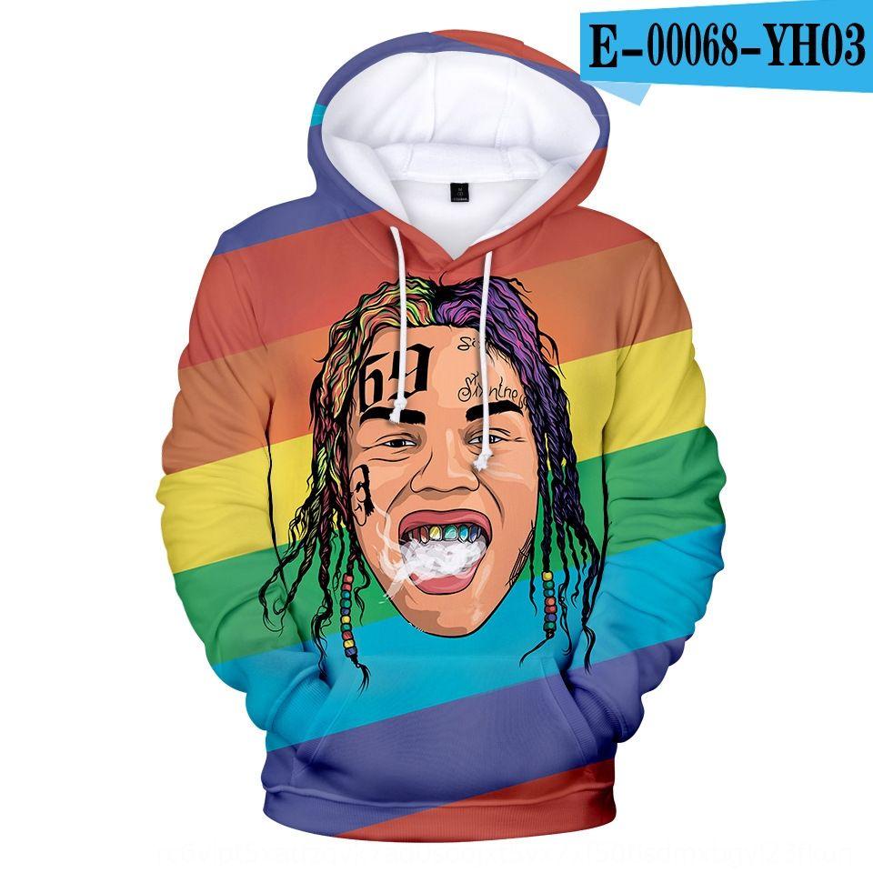 2019 new American rapper portrait 6ix9ine3d printed 2019 new American rapper hoodie portrait 6ix9ine3d printed Hoodie NMWlt