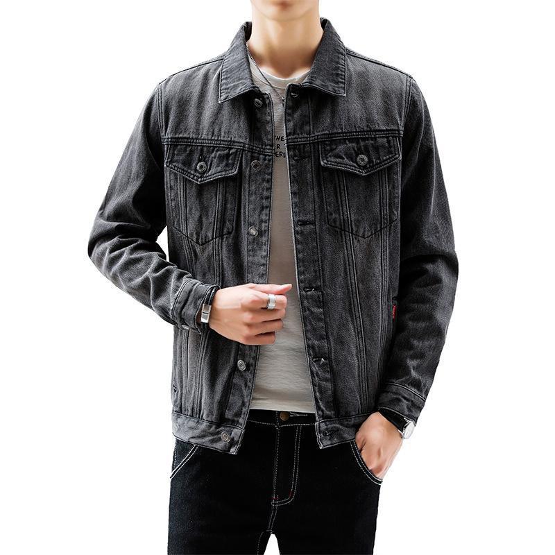 Chamarra Mezclilla Hombre Neue Art und Weise Jeans-Jacke Mann koreanische beiläufige Art und Weise Chaqueta Jean Hombre Slim Fit Jaqueta Jeans Men