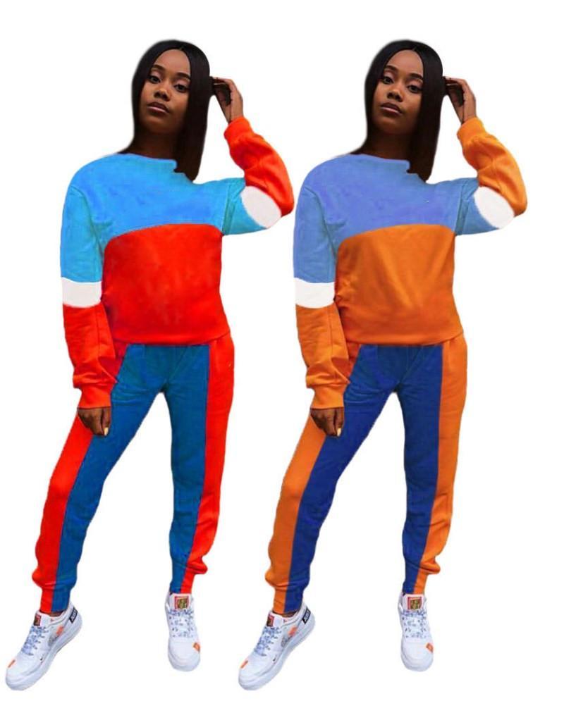 Frauen Sportswear Hemd Hosen lang Hülsen Outfits 2-teiliges Set dünnes Hemd Strumpfhosen Pullover Hosen Sportanzug heißen verkauf klw5231