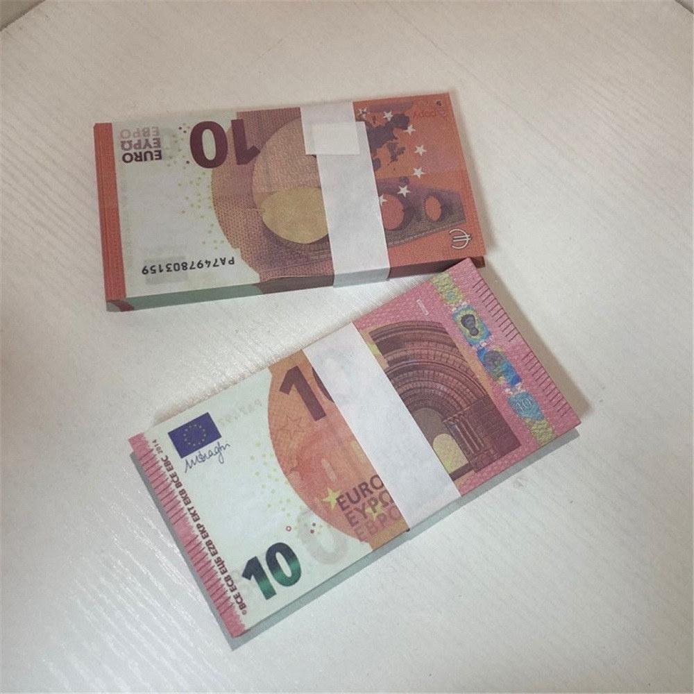 FDVTF Niños Bar Euro Falsificación de juguete Dólar LE10-28 Atmósfera Libra Regalo Billete Billete de Billetes Partido Etapa Prop Ukuie