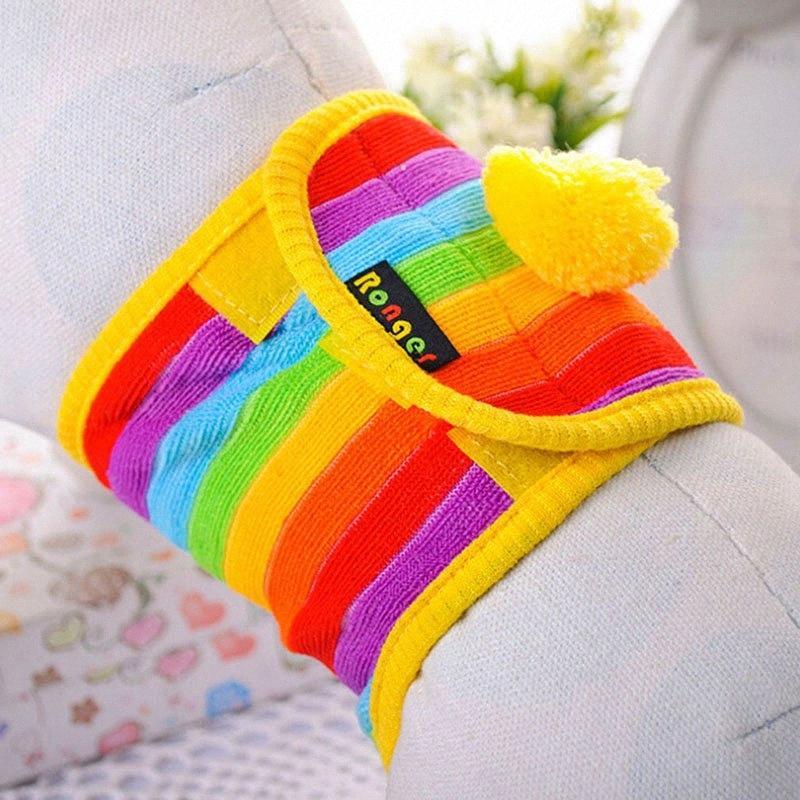 Arc-en-couleur pour chien chaud laine colorés Pantalon Physiological Pet Dog Diapers Pet Supplies Pantalons Physiological u6xL #