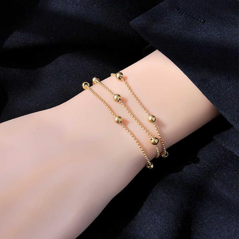 Edelstahl für Perlen modische stahl einfache ball frauen charme strang armband