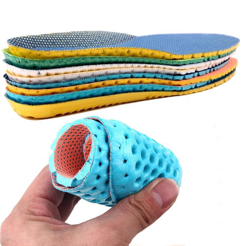 Memory Foam Insoles For Shoes Sole Mesh Deodorant Breathable Cushion Running Insole For Feet Man Women Orthotic Insoles