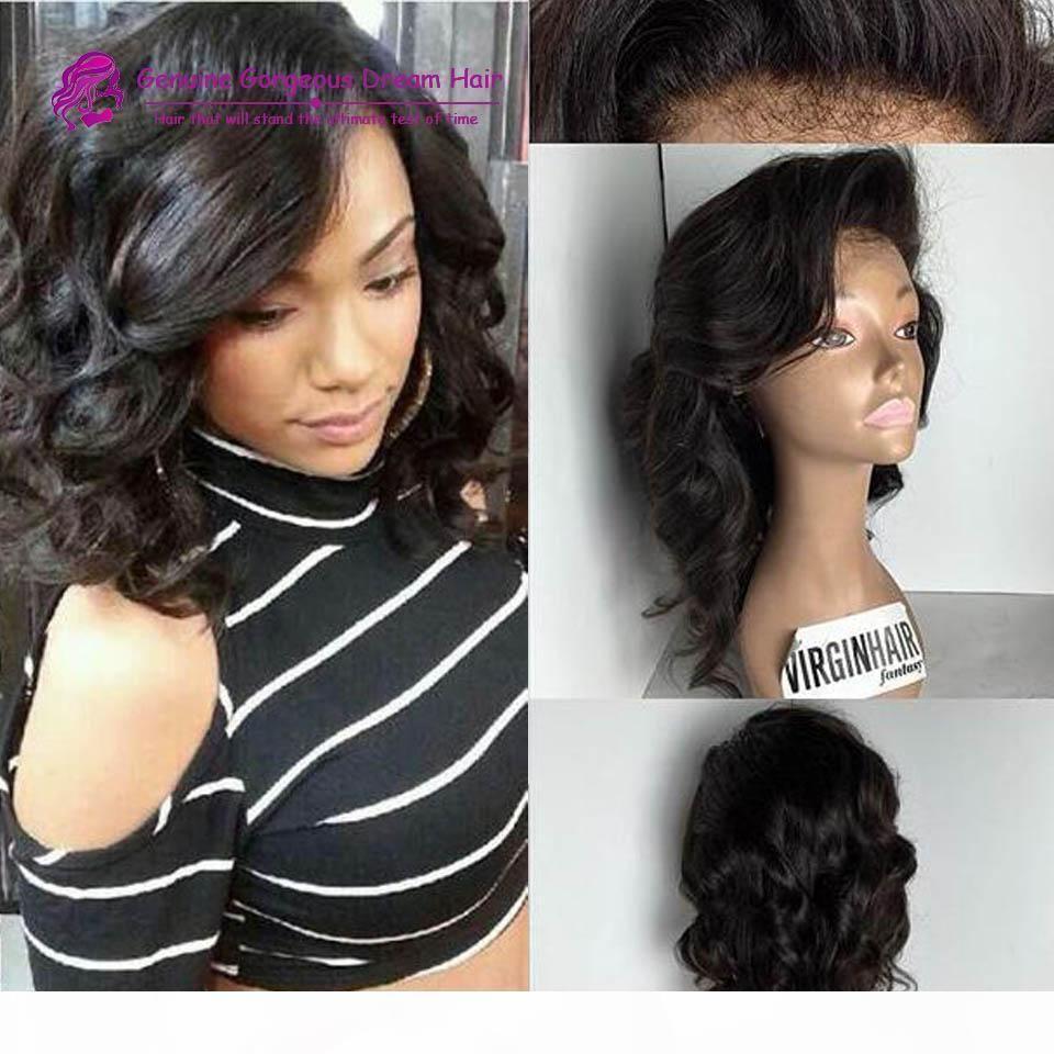 Brasil humano brasileño peluca peluca llena llena sin glotura rizado encaje lleno de encaje pelucas frontales cortes de pelo para mujeres negras en venta