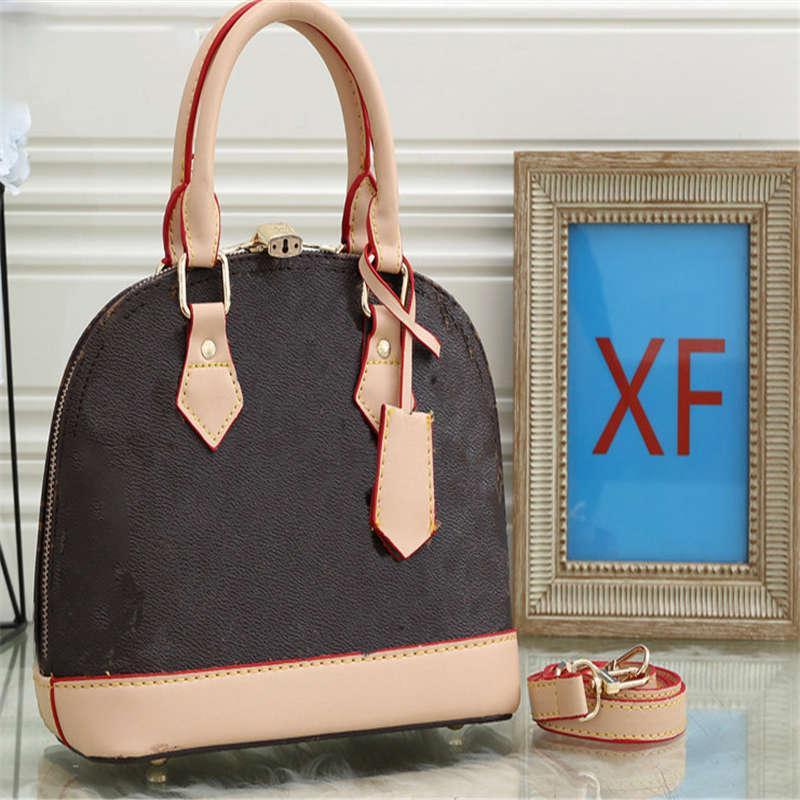 Bolsas de luxo das mulheres Carta de impressão de cor de contraste Saco de concha com bloqueio de alta qualidade Europeia e americana estilo moda bolsas