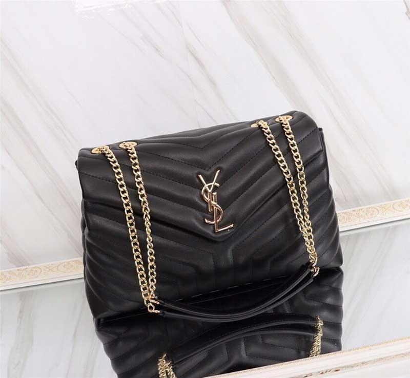 Designer LOU purses Totes handbags genuine leather women famous bags crossbody messenger chain LOULOU bag high quality 25cm