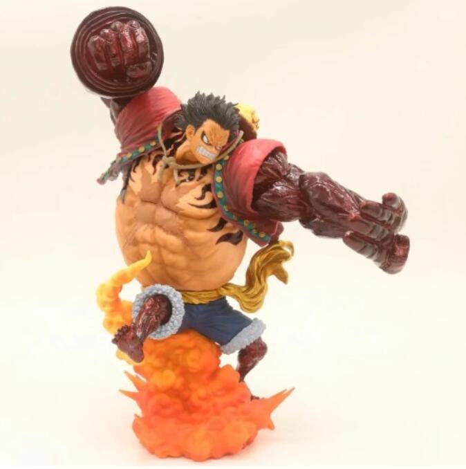 24cm de la chamusquina D Luffy Gear quatrième figurita d'animación de combate modèle estatua figurilla T30