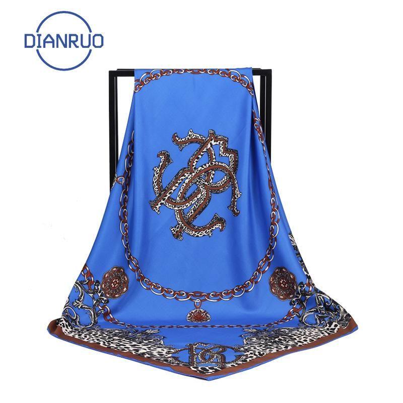 DIANRUO 2020 neue Entwurfs-Silk Schals Sommer-Frauen-Tücher und Wraps Drucken Hijabs Schals Foulard Femme Strand Stolen Luxus N172