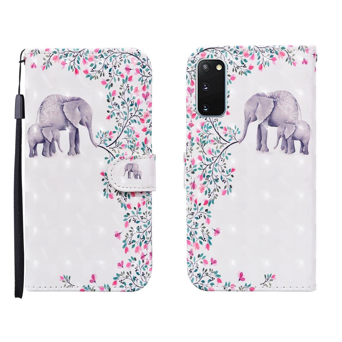 Для Samsung Galaxy S20 FE 3D Окрашенные Pattern Horizontal Флип кожаный чехол с слот держатель карточки бумажника талреп
