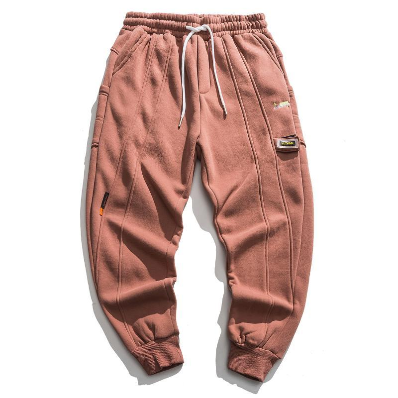 Hip Hop Harem Pantalones Hombre Hombre Pure Color etiquetado Pantalones Casuales Sweatpants Harajuku Oversizados Joggers Pantalones Hombres Pantalones