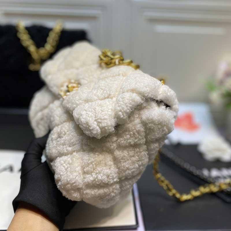 Novas senhoras da forma pelúcia bolsa saco partido famoso designer de uma cadeia ombro mensageiro saco da bolsa de alta qualidade