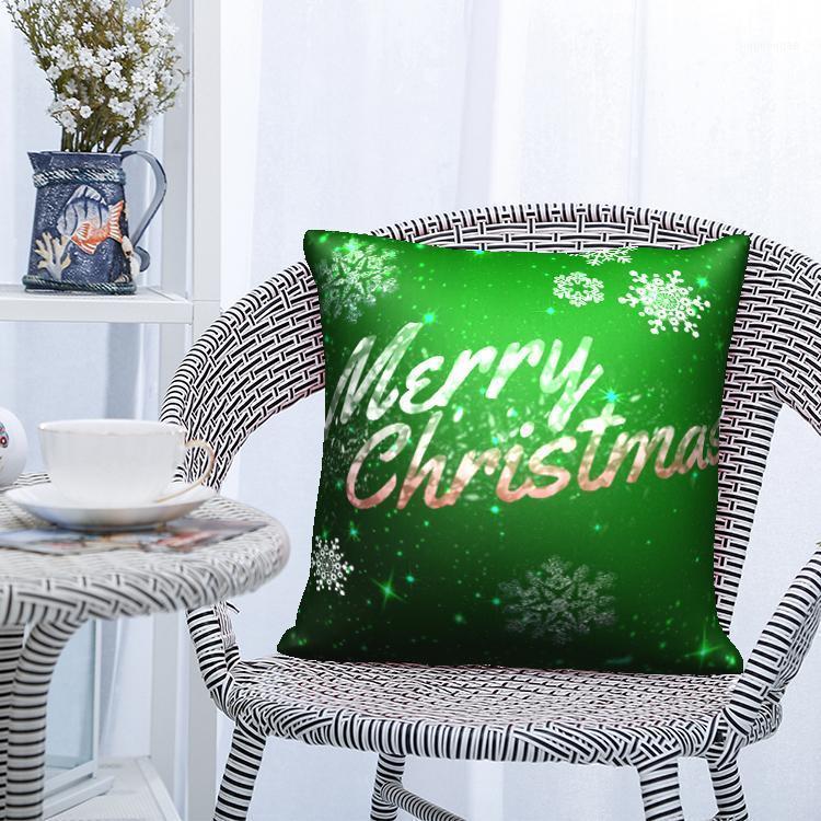 Nanacoba Merry Christmas Yastık Kılıfı Noel Hediye Baskılı Minder Kapak Ev Kanepe Kanepe Dekoratif Kısa Peluş Atmak Yastık1