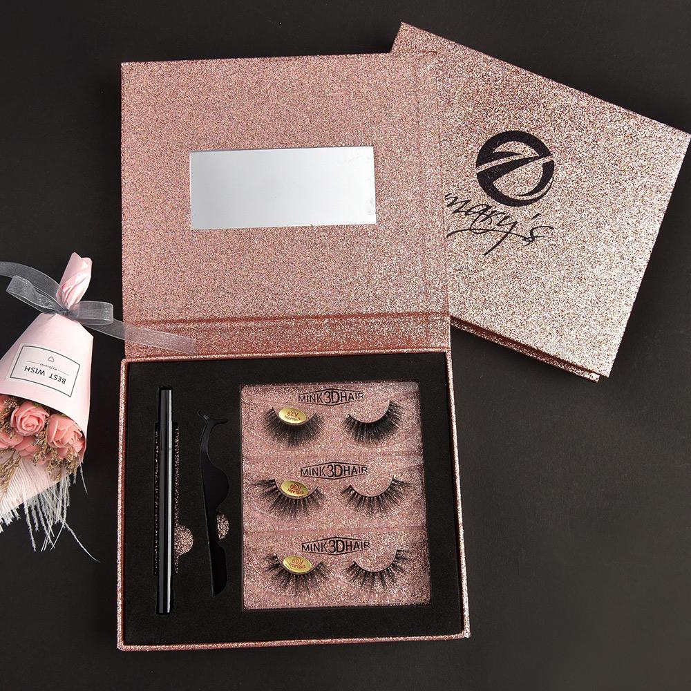 [Wimper Set für Make-up-013] 3 Paar Magnetwimpern, schöne Wimpern, weiche und bequeme falsche Wimpern