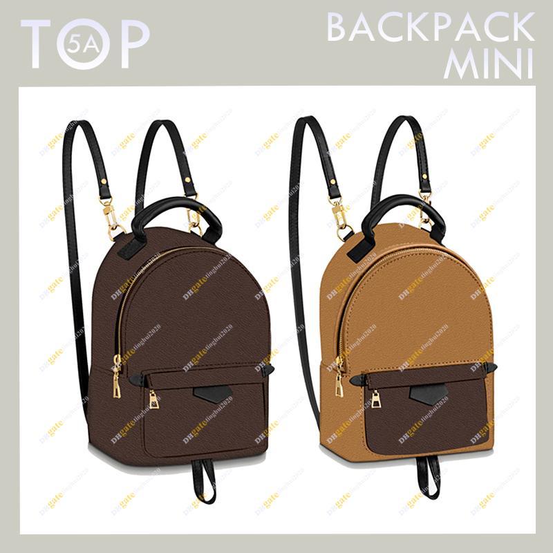 Новое поступление дамы мода дизайнер высокого качества 5A мини-рюкзак M44873 M44872 Colorblock Palm Mini школьная сумка в наличии и бесплатная доставка