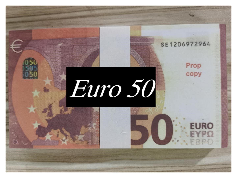 Die meisten realistischen Nachtclub-Bar-Atmosphäre-Spiel-Prop-Geld-Kopie-Banknoten-Faux-Billet-Film 50 200 500Euro 100pcs / Pack E52005