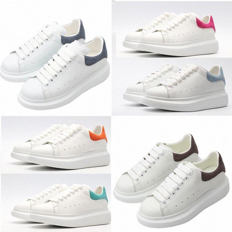 Alexander mcqueen mcqueens mc queen mqueen أعلى جودة مع صندوق 2020 مصمم الأزياء Espadrille رجل المرأة منصة أحذية رياضة أحذية رياضية المتضخم 36-45 # 512 U6T4 #
