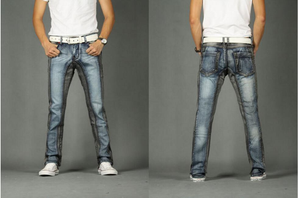 Men's New Jeans Morality Free Matching Jeans One's Straight Leisure Color Stretch Men's Hot! Shipping Cultivate Rxcak