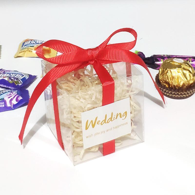 Новая прозрачная сумка матовая коробка PVC коробка подарки пластиковые рождественские подарочные пластиковые конфеты коробки для упаковки свадьба Favors1