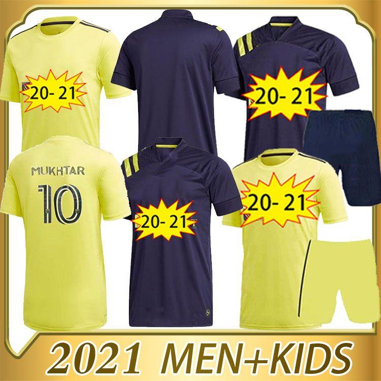 2020 Nashville SC Jerseys 20 21 Nashville Hany Mukhtar Zimmerman Home Away Camisa de Futebol Kit Kit Camisa de Futebol