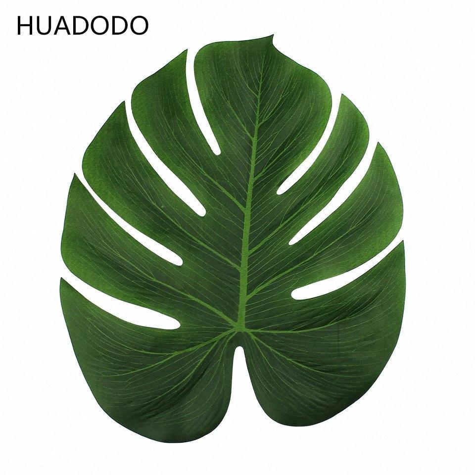 HUADODO 12 peças artificiais folhas de palmeira Para DIY tropical tema havaiano partido Home Jardim casamento Decoração da tabela jfyi #