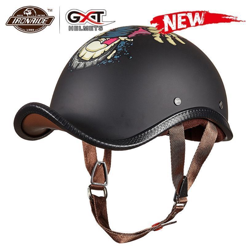 GXT Motosiklet Kask Vintage Retro Motocross Capacete Açık Yüz Casco Moto Motosiklet Moto Kask Yarış Binme1