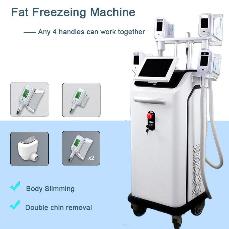 Vakum Zayıflama Makinesi Kriyoterapi Yağ Donma Vakum Kriyo Zayıflama Makinesi Vücut Şekillendirme 4 Yağ Donma Kolları