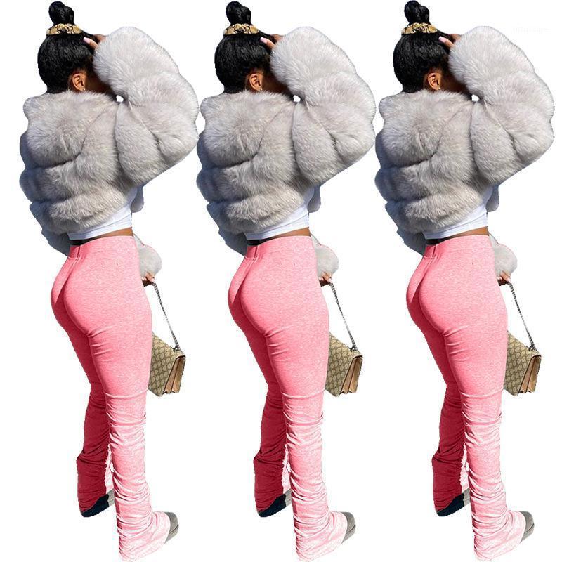 Женские брюки Capris Stacked Leggings Joggers Спортивные штаны Женщины RUCHED LEGINGENGANGE JOGGING FEMME TROUSES1