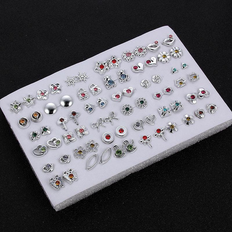 küpe, çiçek şekilli kadın ve kız, cam küpe, ayılar, hayvanlar, hediyeler, takı 36 çift, tarzların bir karışımı