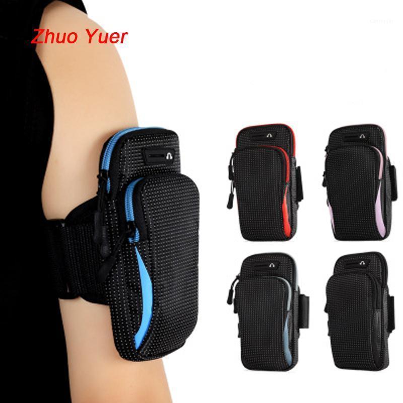 Bolsa de brazo deportivo para hombres corriendo móvil Multifuncional Multifuncional Bolsa de mano Muñeca Fitness Accesorios al aire libre1