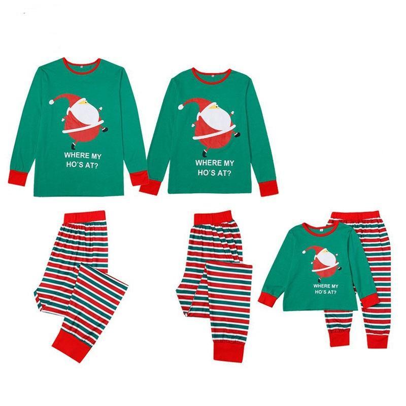 عائلة عيد الميلاد البيجامة 2020 الأب الابن الأم مطابقة ابنة البيجامة مجموعة الأسرة وتتسابق ملابس الرجال النساء مجموعة أطفال