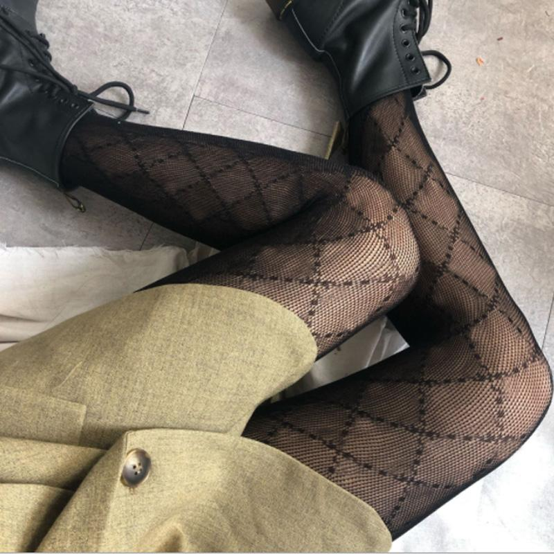 2021 Damen Strümpfe Strumpfhosen Sexy Womens Strumpfwaren Mode Kausal Strümpfe Sexy Transparente Gitterstrümpfe Weibliche Strumpfhosen Neu