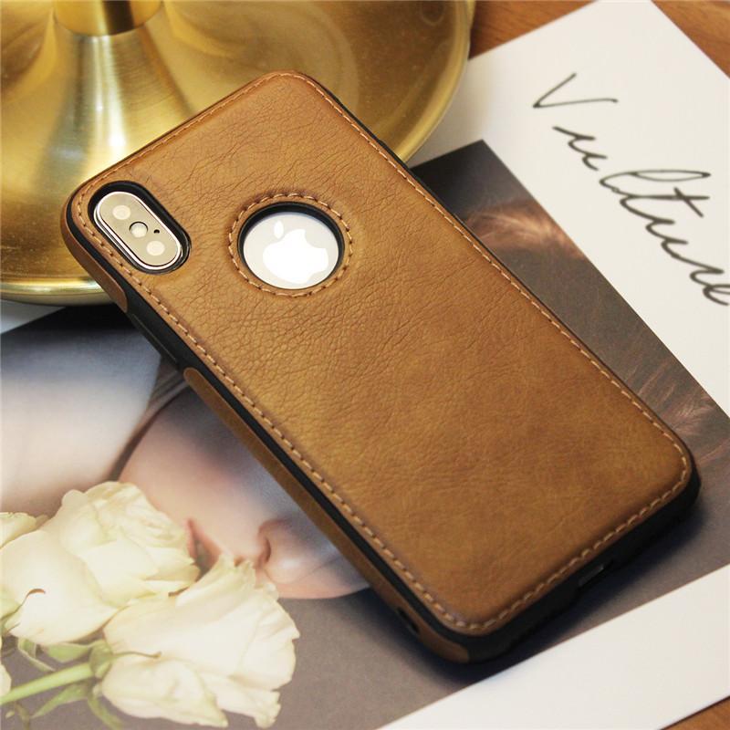 Modello Leather Hot cucitura della cassa del telefono di TPU Soft Shell completa protezione anti-goccia di caso di iPhone per 12 11 Pro X XS Max XR Samsung Note20 S20