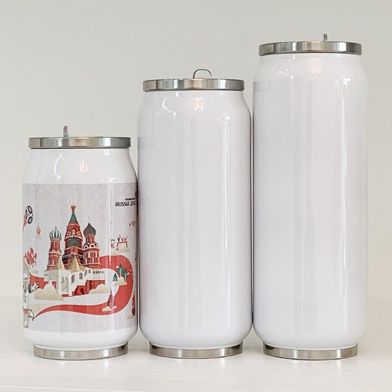Vacuum Insulated Water Bottle Double Wall Stainless Steel Thermos Portable Wide Mouth Can Cup Travel Water Coke Bottle Cup AHA1741