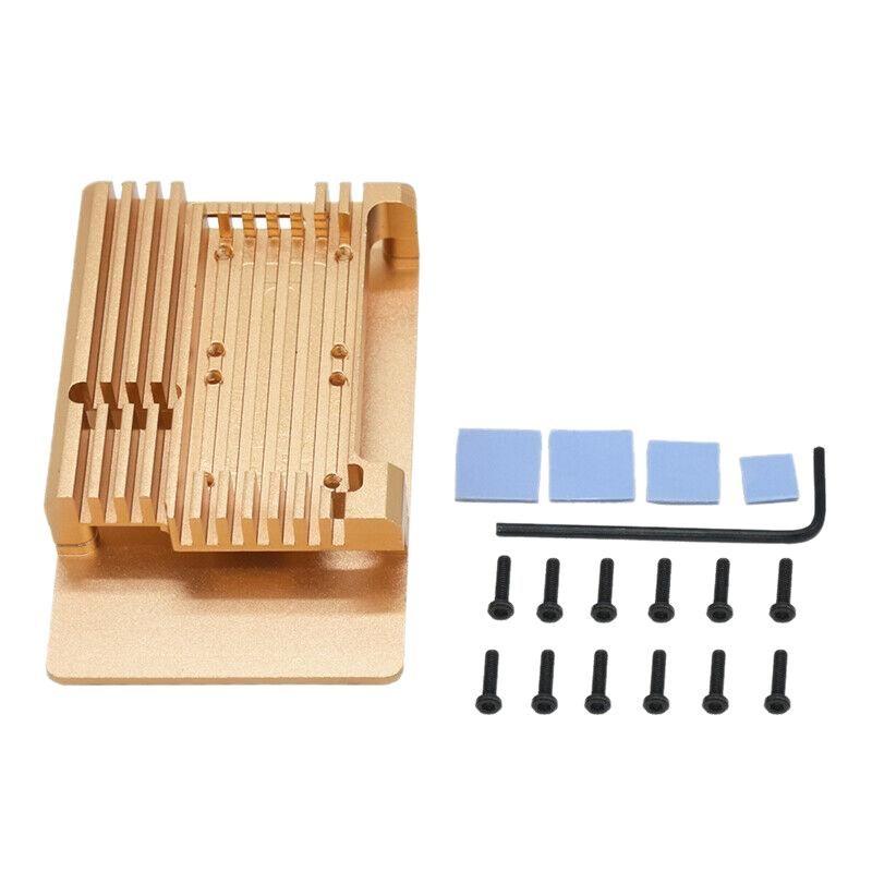 Охлаждающие колодки для ноутбука Защитный чехол Корпус Корпус Тепловые раковины Алюминиевый сплав для малины PI4 B