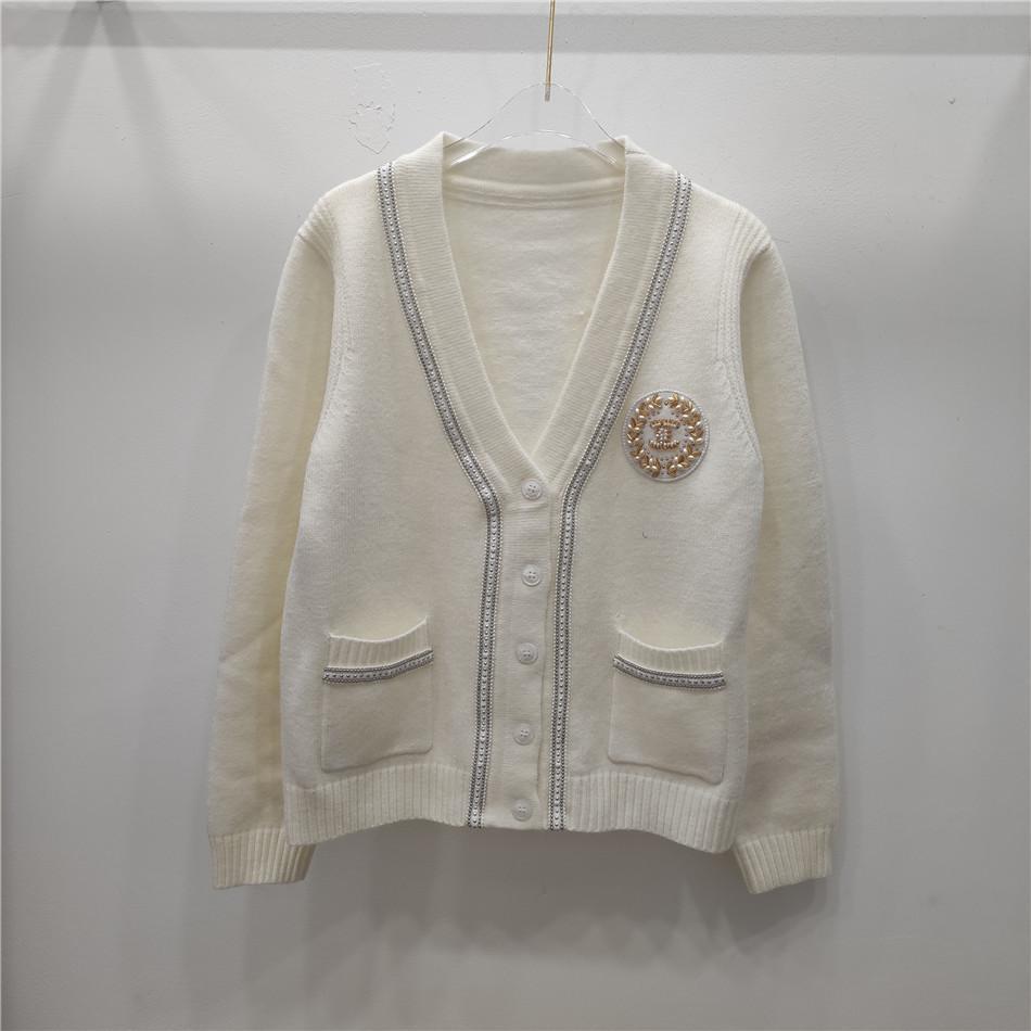 Freies Verschiffen 2020 Herbst-Schwarz / Weiß / Khaki gestreifter Druck Herbst-Frauen Cardigan Marke Same-Art-Frauen Pullover DH122