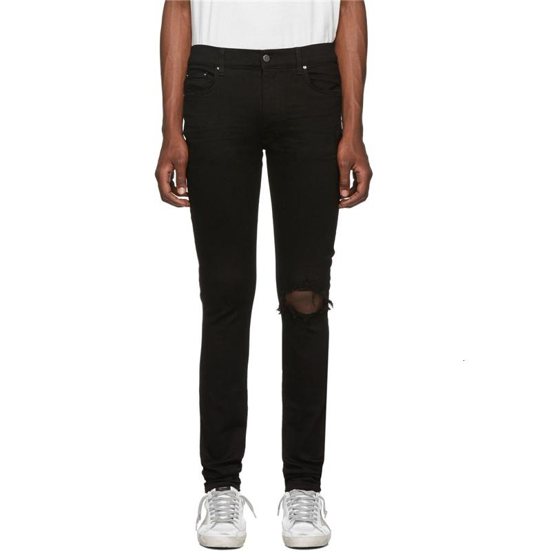 HOT TOP Quality A Coupes Trous Jeans Miri Slim Fit Moto Biker Biker Pantalon Denim Designer HIP HOP MENS JEANS HAUTE QUALITÉ HQ15 HQ15