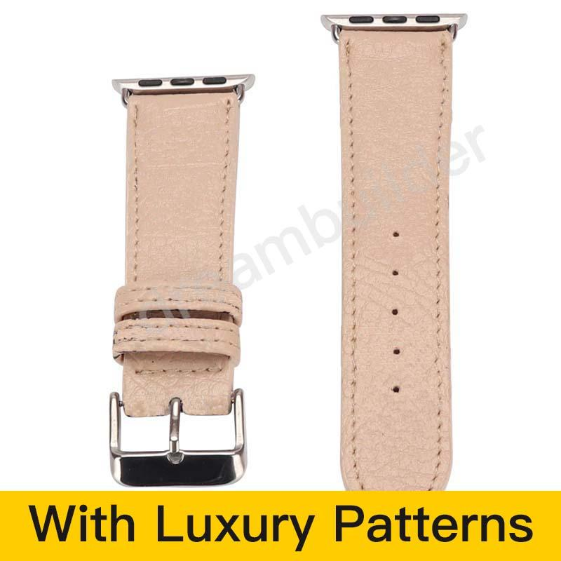 M مصمم watchbands لمشاهدة حزام 42 ملليمتر 38 ملليمتر 40 ملليمتر 44 ملليمتر iwatch 1 2 3 4 5 عصابات جلدية حزام سوار الأزياء المشارب