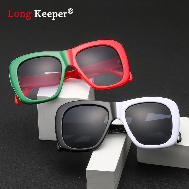 Vintage Leopard Sunglasses Women Men 2020 Brand Design Square THick Frame Square Oversized Retro Sun Glasses Shades UV400 Goggle Ekhnq