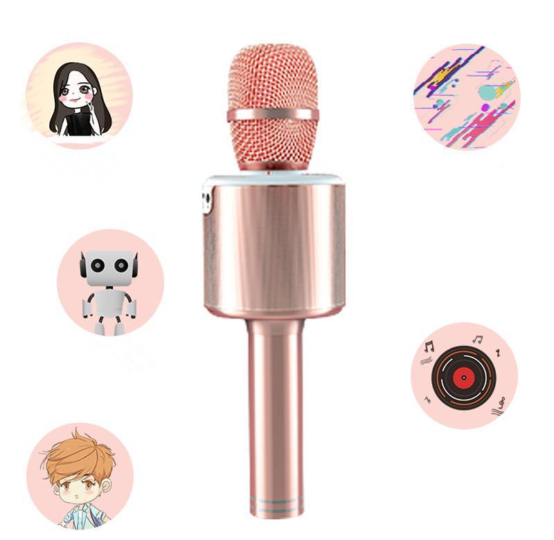 N6 беспроводной микрофон Bluetooth мобильный телефон национальный K песня, посвященный микрофон KTV фонарь LED дома аудио интегрированы