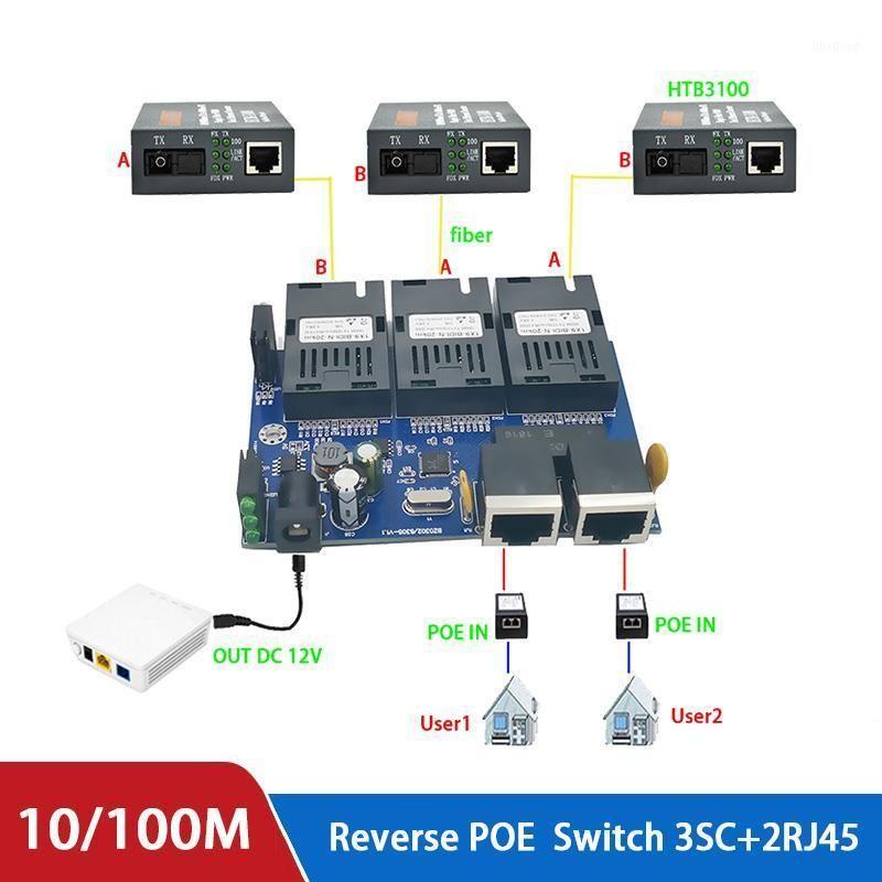 10/100M Reverse POE Switch output 12V supply for epon and gpon 8 port reverse power supply RPOE POE switch Fast Ethernet pcba1