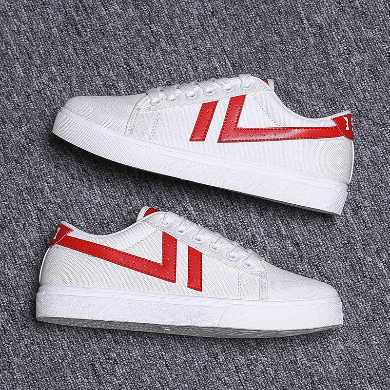 Sıcak Satmak Erkek Kadın Rahat Ayakkabılar Unisex Moda Tuval Ayakkabı Kırmızı Beyaz Siyah Yürüyüş Açık Düz Ayakkabı Boyutu 36-44