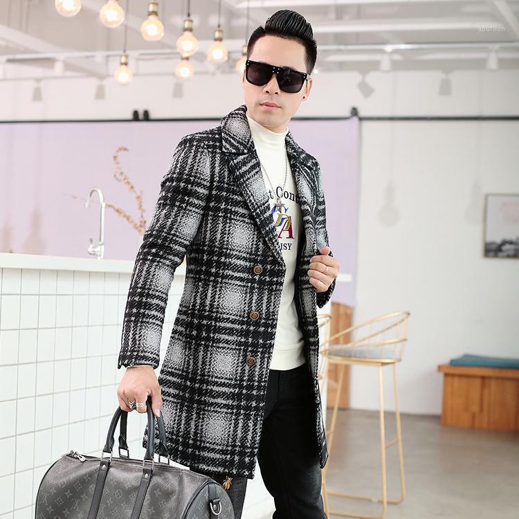Мужская шерсть смешивает досуг среднего и длинного шерстяного пальто зимой 20211 года