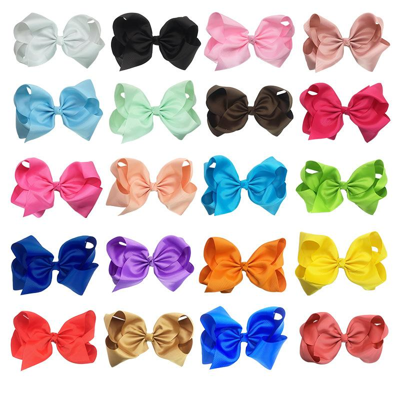 Barrettes da 8 pollici Arco di colore singolo 40 colori grosgrain nastro alligatore clip ragazze accessori per capelli boutique grande bowknot barrette 595 k2
