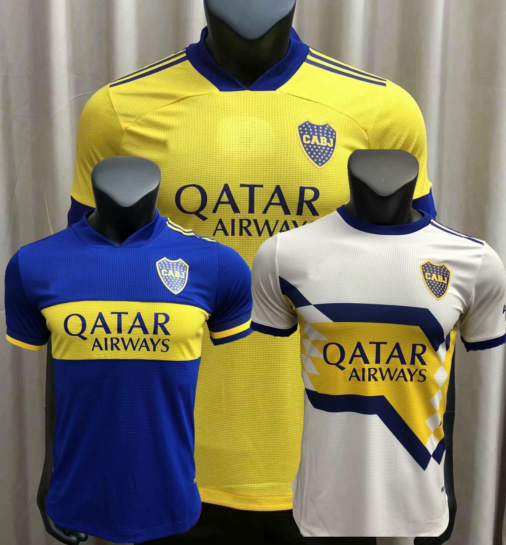 플레이어 버전 20 21 Boca Juniors Maillots 드 발 축구 유니폼 Maradona Tevez de Rossi 2020 2021 홈 멀리 3 축구 선수 셔츠