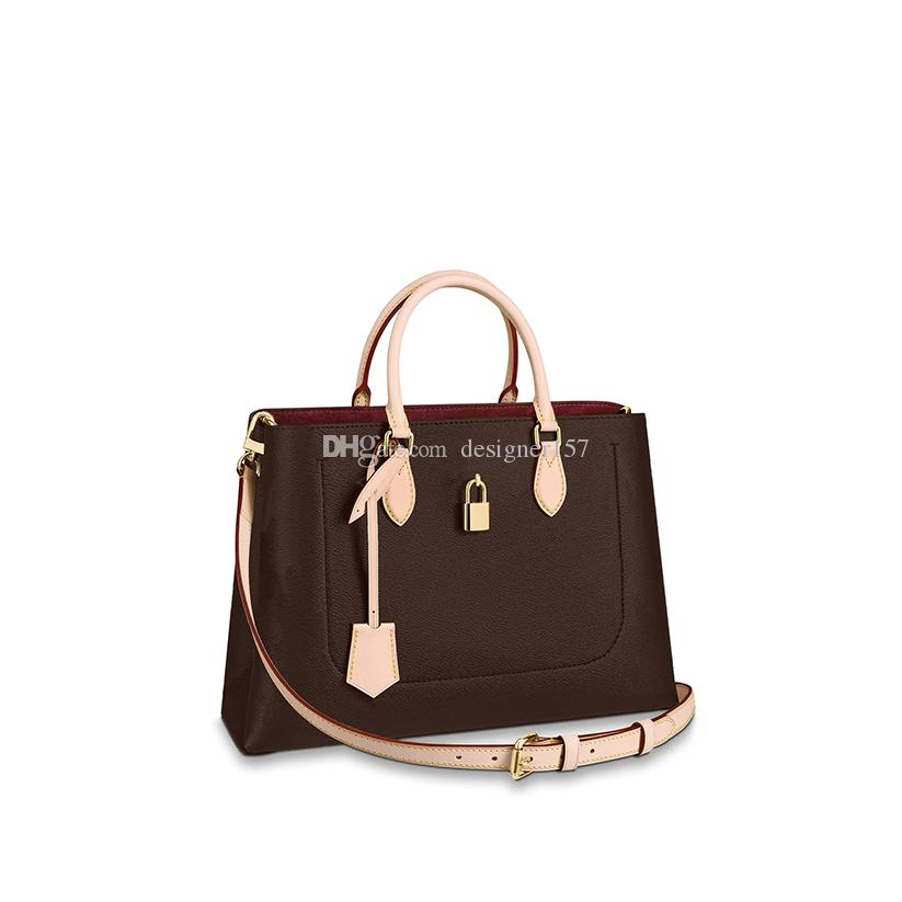 Tote 43551-001 Çanta Kadın Sırt Çantaları Çanta Bayan Çanta Omuz Kahverengi Deri Moda Çantalar Cüzdan Ba Etdce