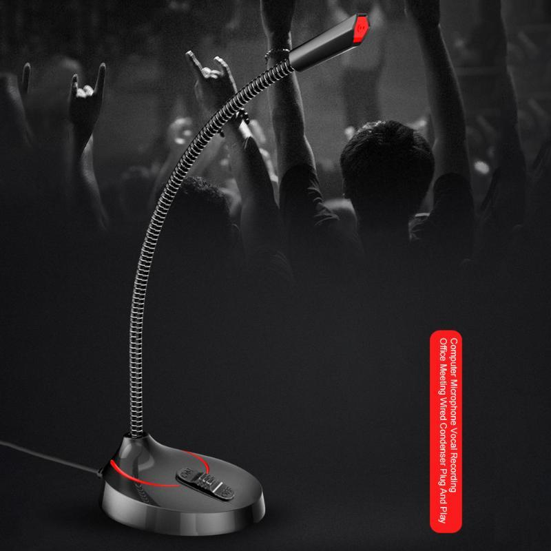 Açı Ayarlı Vokal Kayıt Bilgisayar Mikrofon Büro Toplantısı Canlı Yayın Singing Kablolu Kondenser Oyun Ücretsiz Daimi