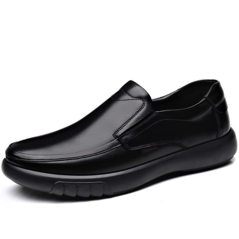 Neue Erwachsene Luxus Echtes Leder Männer Schuhe Velvet Business Schwarz Hochzeit Party Schuhe Winter Warme Herren Kleid Schuhe 38-47 Y200420