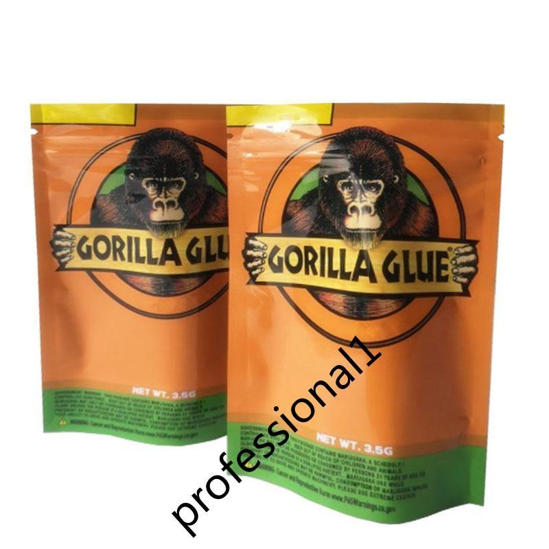 2020 الجديد الغوريلا GLUE BAG 3.5G حقائب مايلر زيبر رائحة والدليل على التعبئة والتغليف الحزمة جودة عالية
