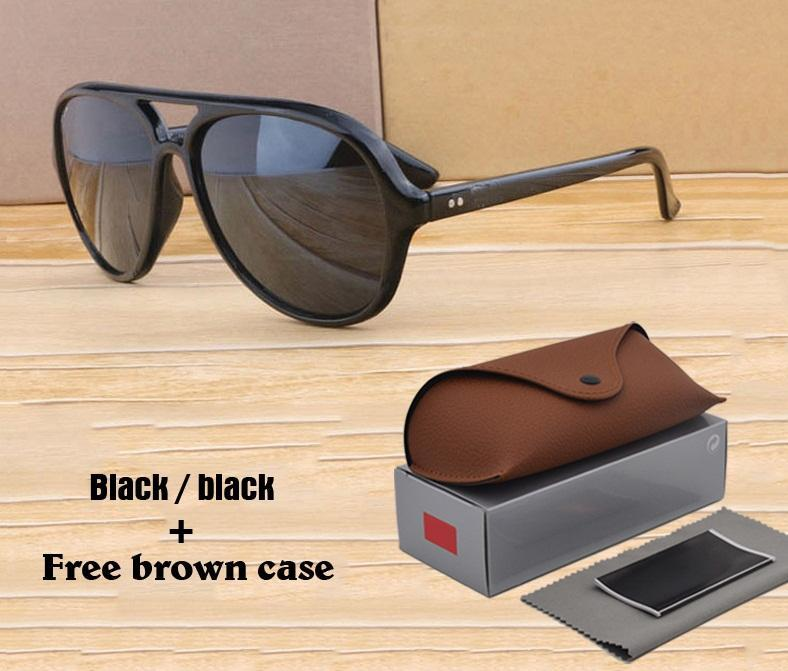 1 UNIDS Venta al por mayor - Gafas de sol Hombres Mujeres Marco Diseñador Tablón Marco Espejo UV400 Lentes Retro Eyewear Gafas de sol con caja gratis y cajas